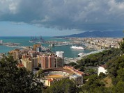 View Of Malaga From Castillo Gibralfaro. Spain
