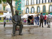 Plaza de la Merced, Statue of Picasso
