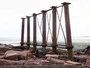 Solway Viaduct Bridge Supports At The End Of The Embankment Bowness On Solway, Cumbria